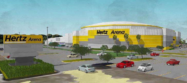 Does the Hertz Arena revised paint scheme meet code?
